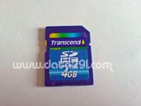 トランセンド SDHC 4GB